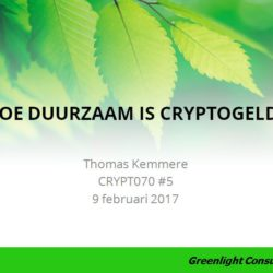 Hoe duurzaam is cryptogeld bitcoin Blockchain